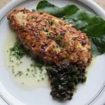 Hühnerfilet mit Mandel- Algenmantel